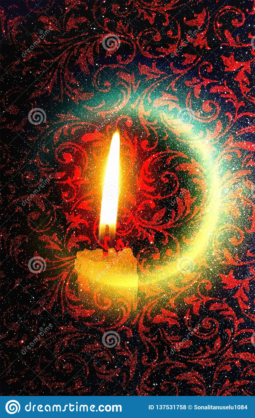 Indiański festiwal Diwali kolorowy oświetleniowy tło