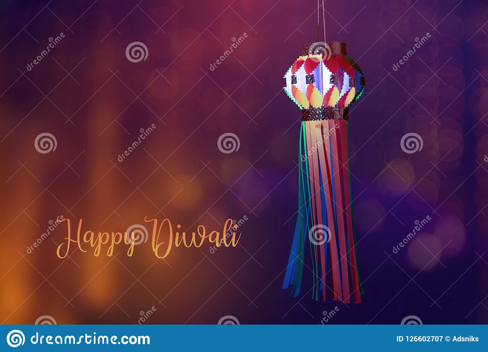 Indiański festiwal Diwali, lampion