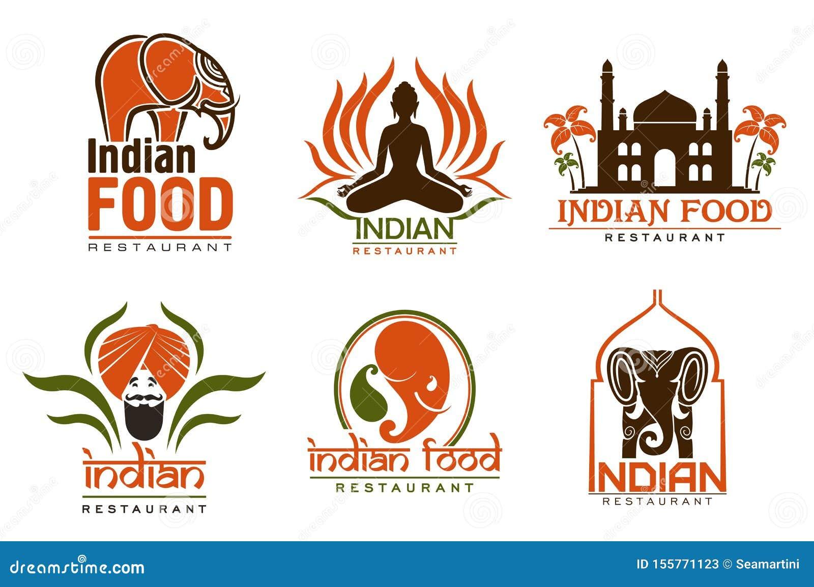Indiański karmowy szef kuchni, Taj Mahal, lotos i słoń,