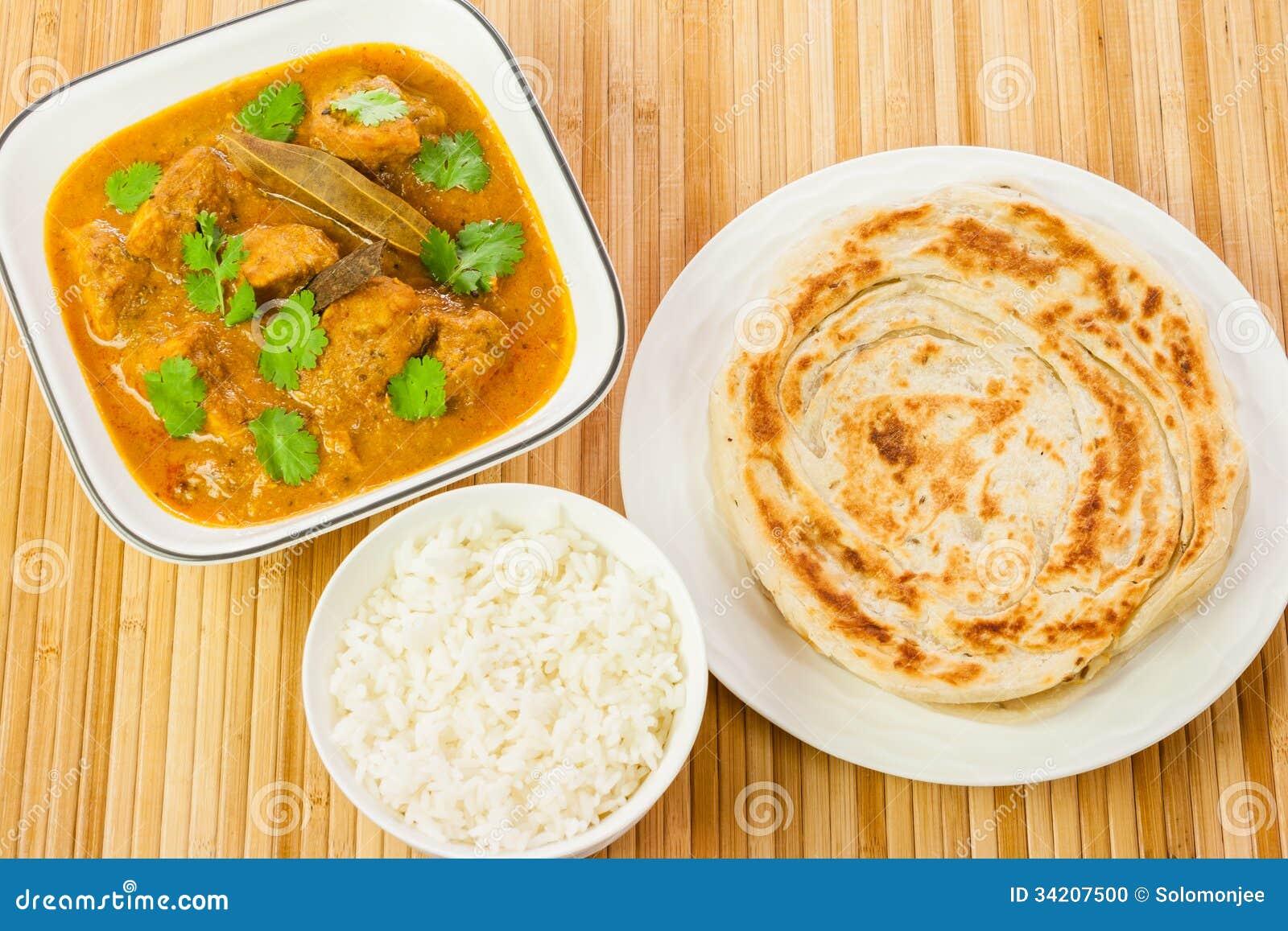 Indiański kurczaka curry ego posiłek