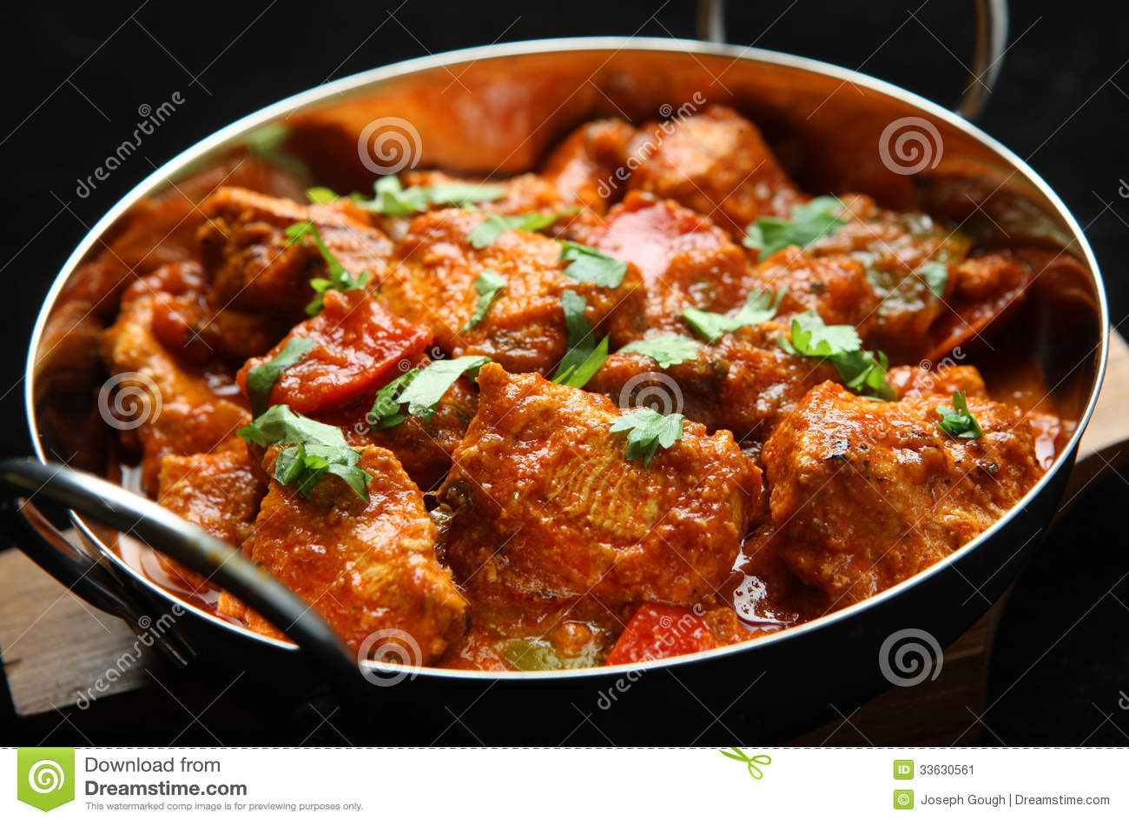Indiański kurczaka Jalfrezi curry ego jedzenie