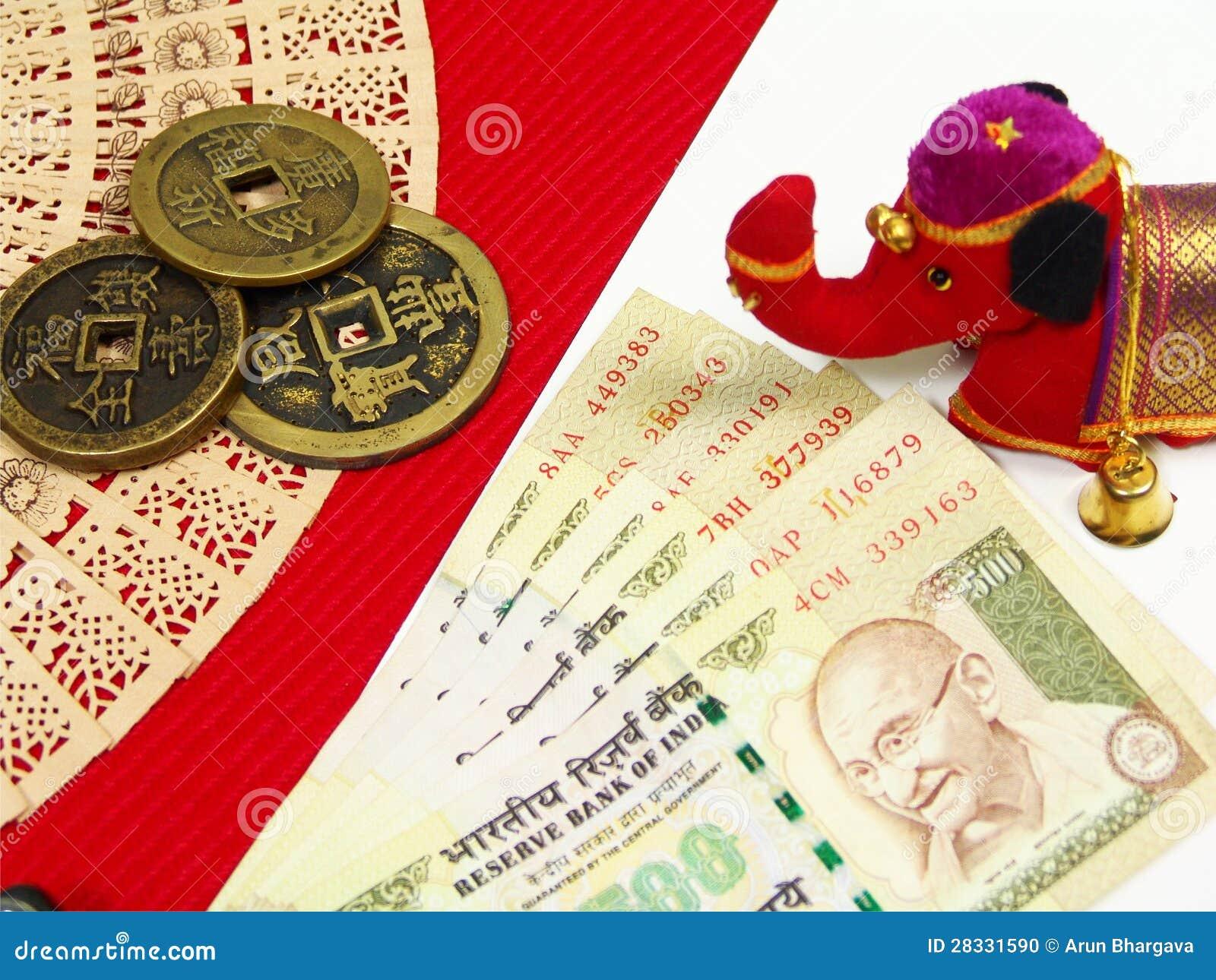 India anc Chiny pieniądze