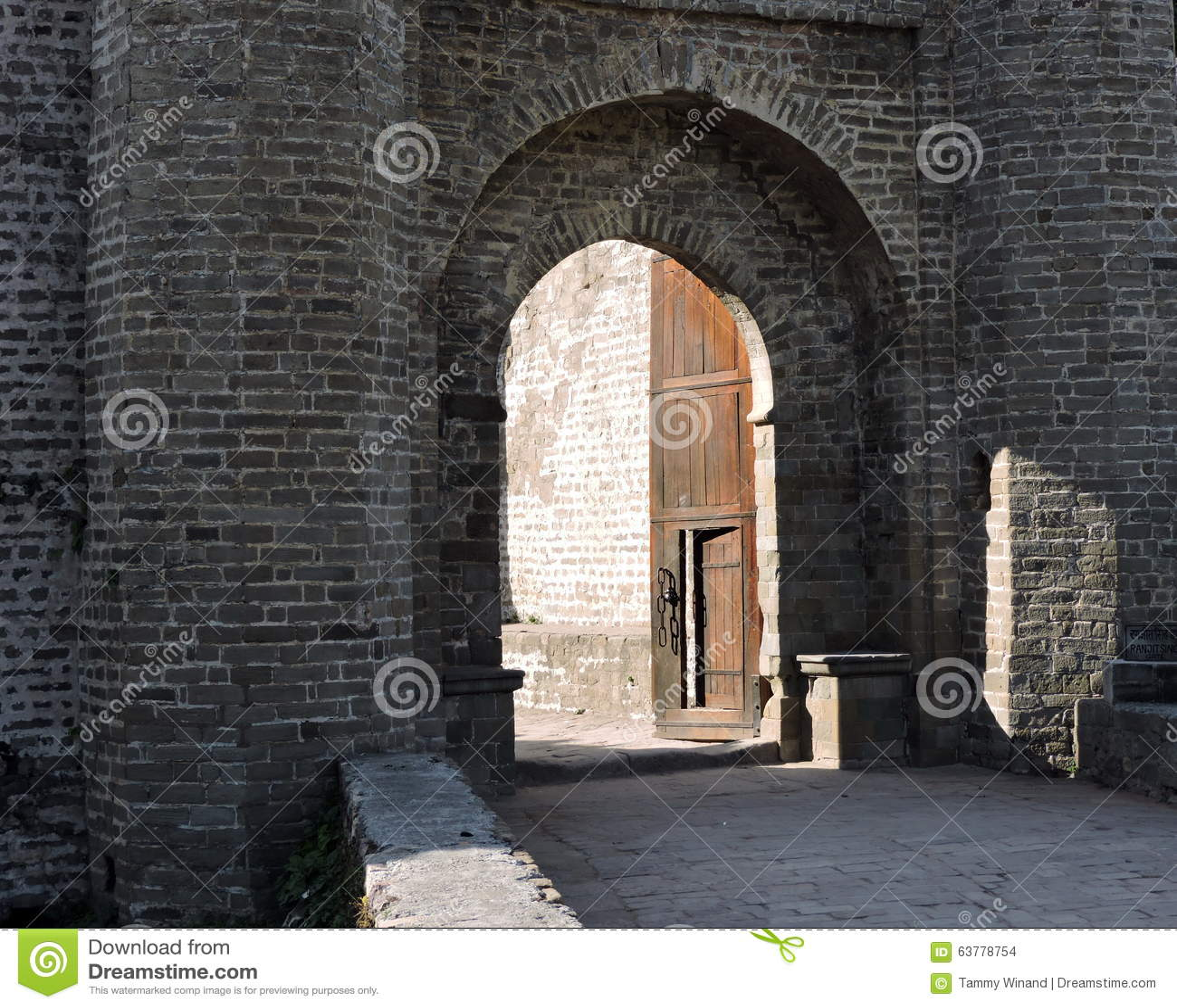 India architektury Kangra fortu wejście