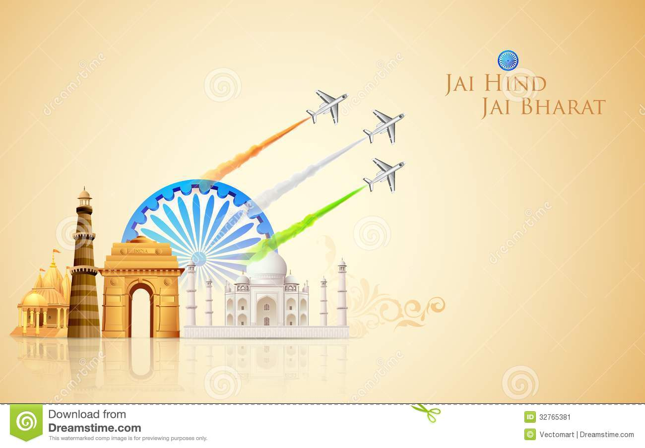 India Background Stock Vector Illustration Of Mahal