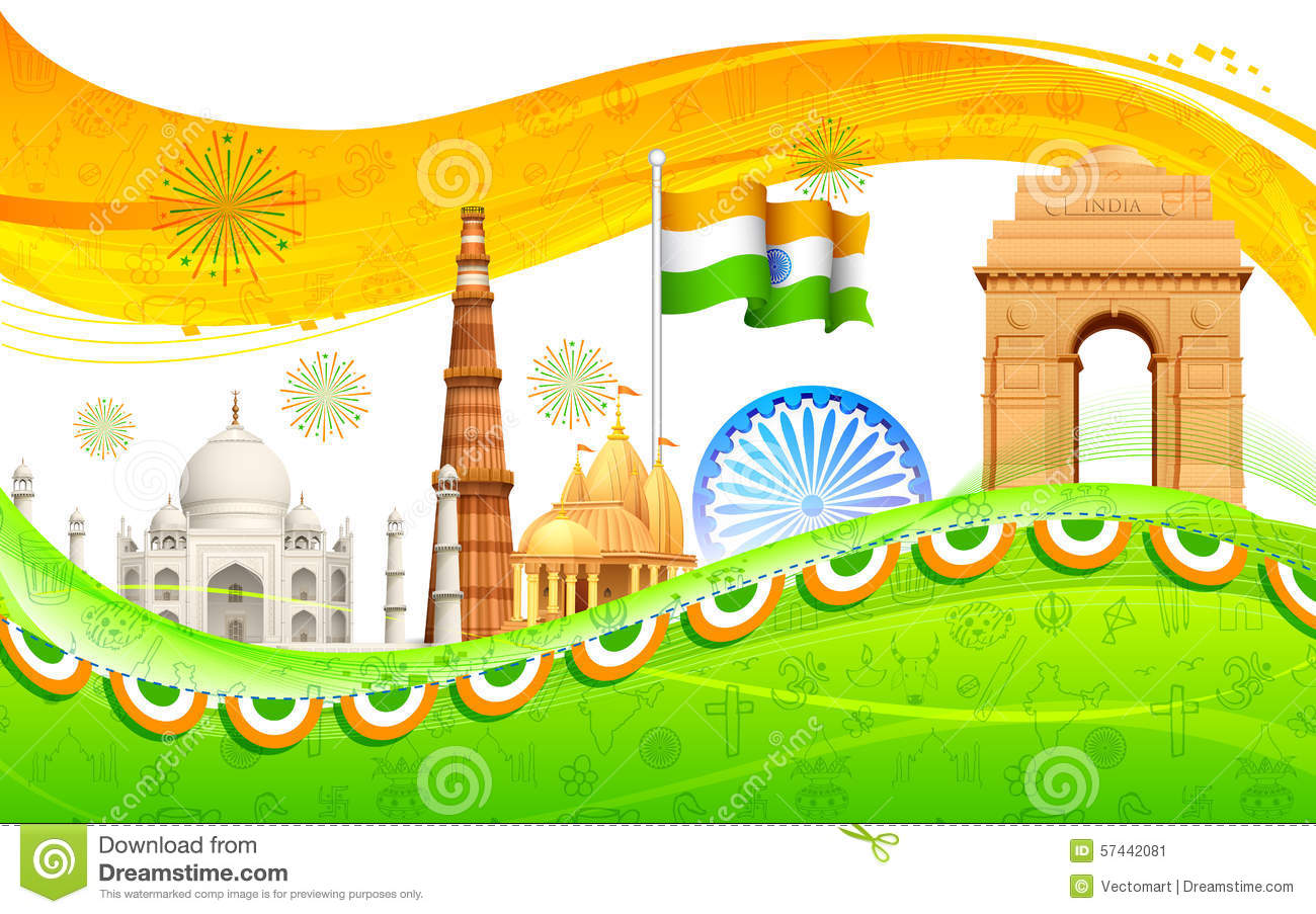 India Background Stock Vector - Image: 57442081