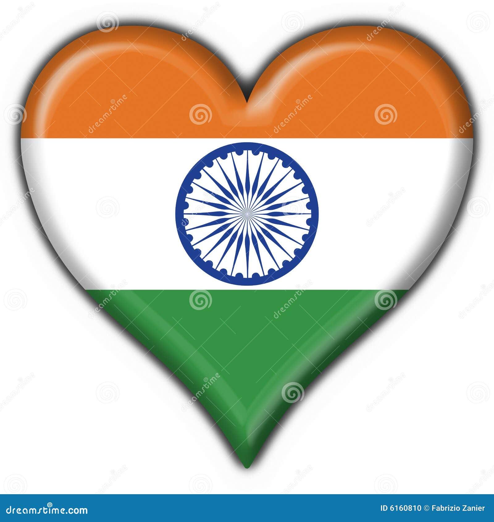 india button flag heart shape stock illustration illustration of