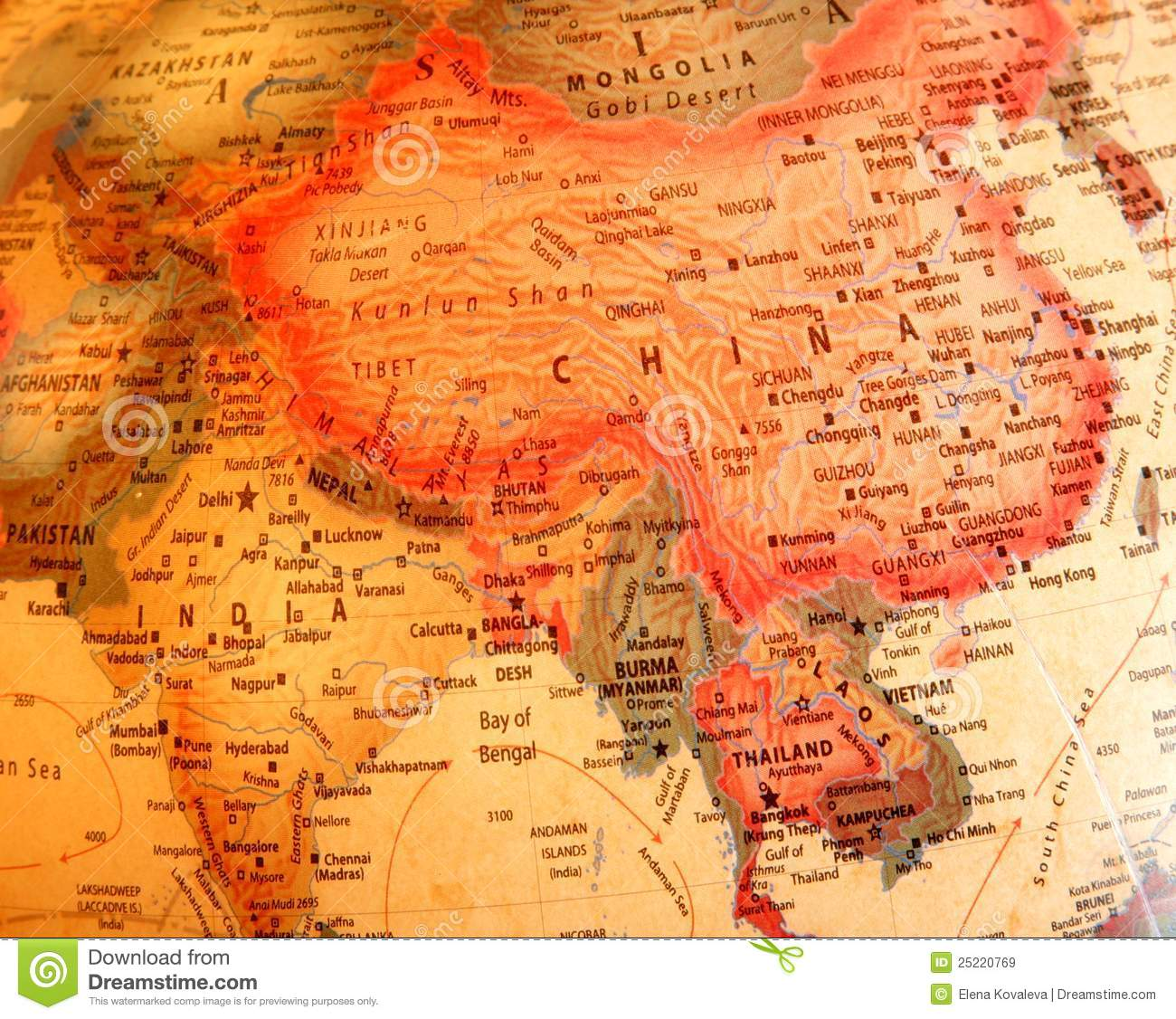 India china thailand on the globe stock image image of thailand download comp gumiabroncs Gallery