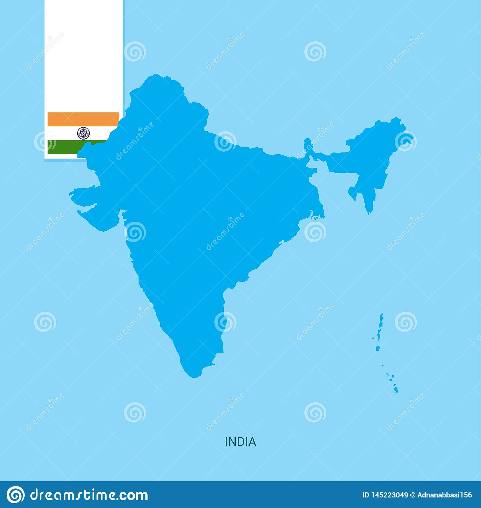 India Country Map With Flag Over Blue Background Stock Vector ... on india neighborhood map, gauhati india map, india uttarakhand rishikesh, india physical and political map, green india map, hindu kush mountains map, india state map, united states of america, rural india map, world map, south asia map, india map with bodies of water, india map recent, india continent map, taj mahal india location on map, india russia map, india hampi map, india physical map of rivers, india animal symbol, india khyber pass location, sri lanka, export by countries map,