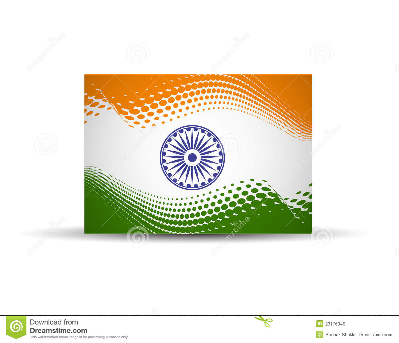 India flag design with Event Original, illustration.