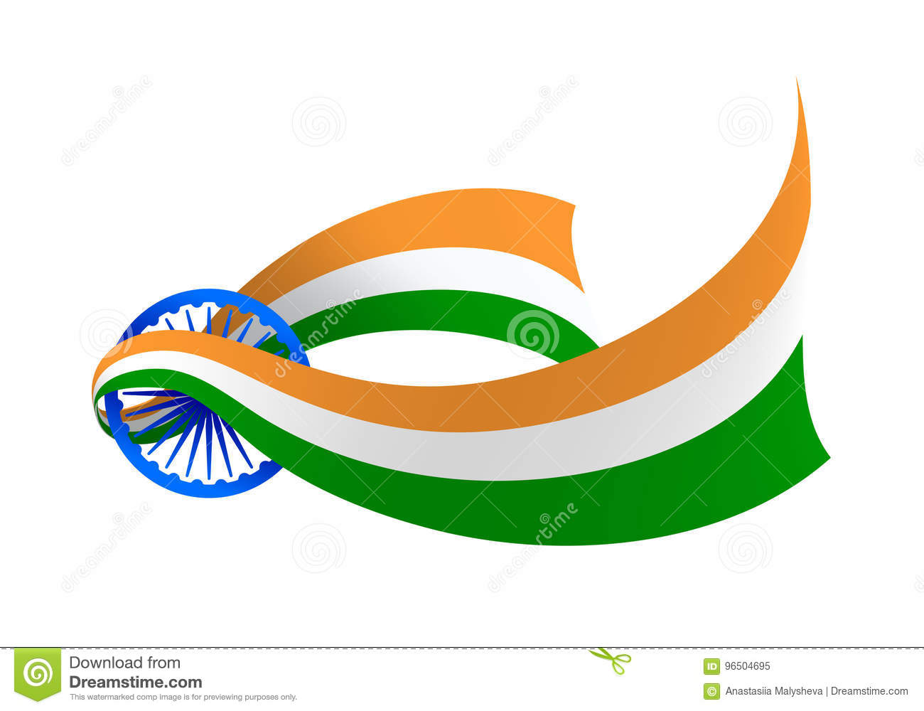 India Flag Creative Variant Stock Vector Illustration Of