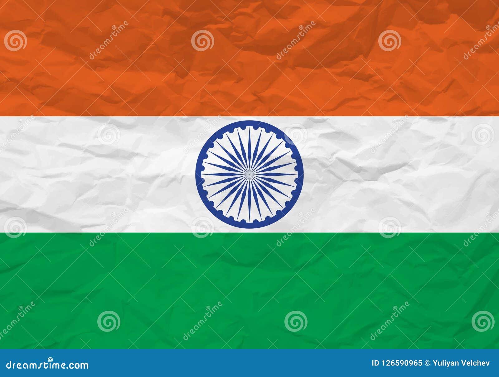 India flag crumpled paper