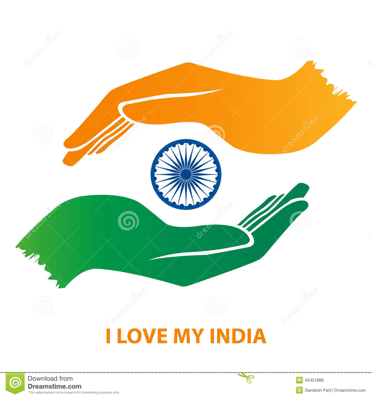 India Flag Hand Gesture Stock Vector Illustration Of Template