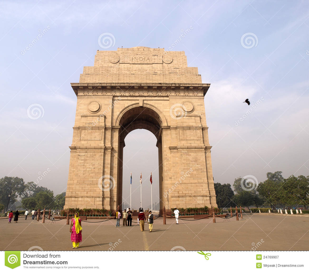 The India Gate- The National Monument of India.