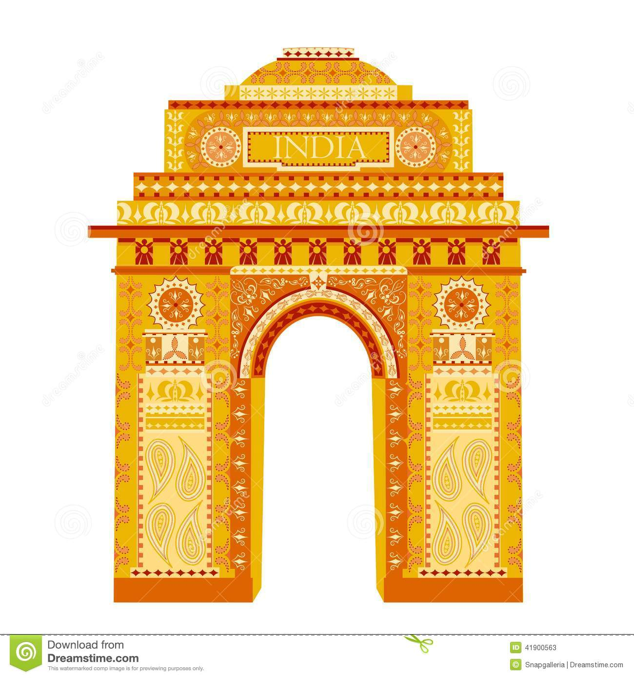 India Gate Stock Vector Image 41900563