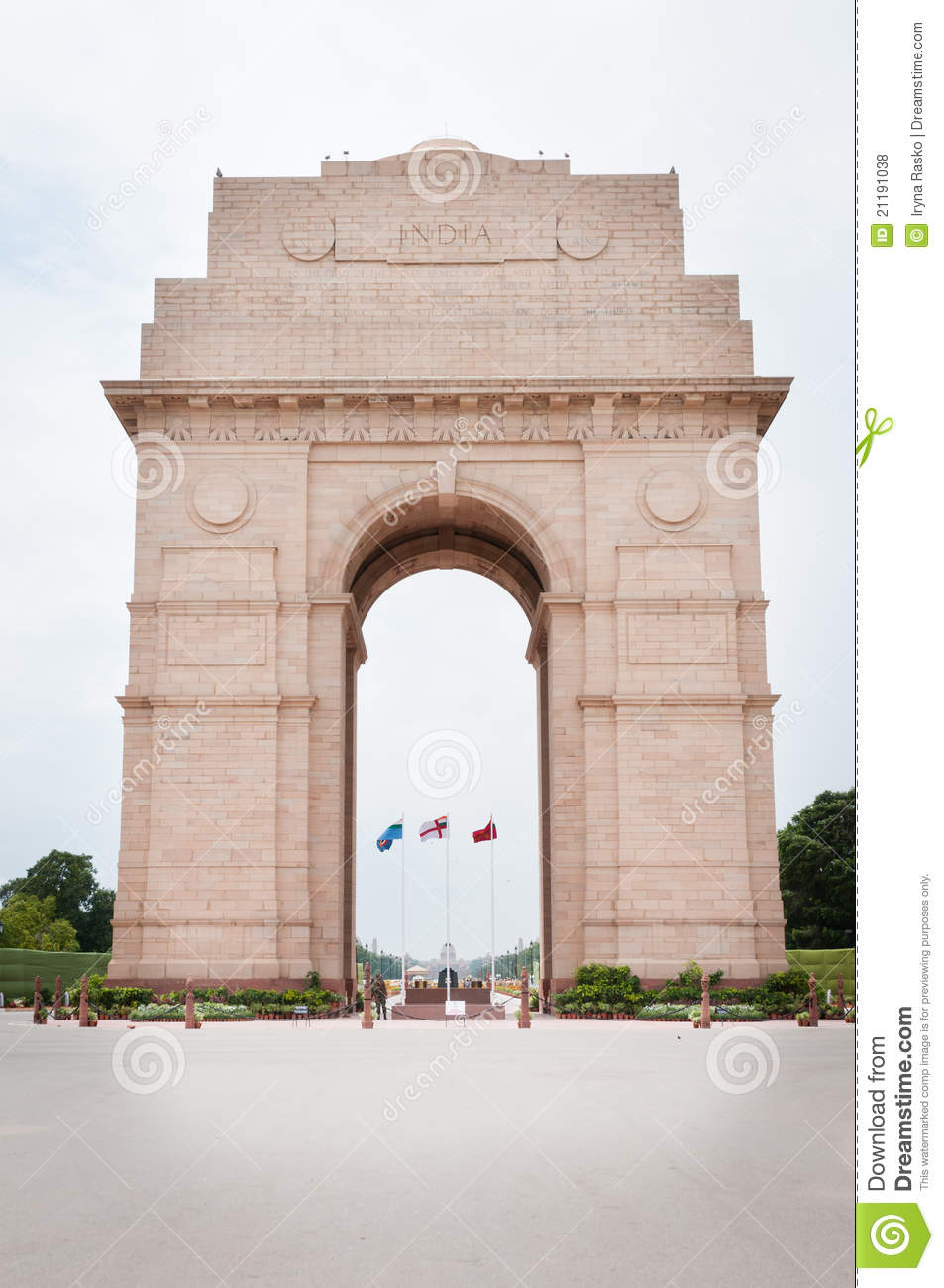 India Gate In New Dalhi Stock Photo Image Of Travel 21191038