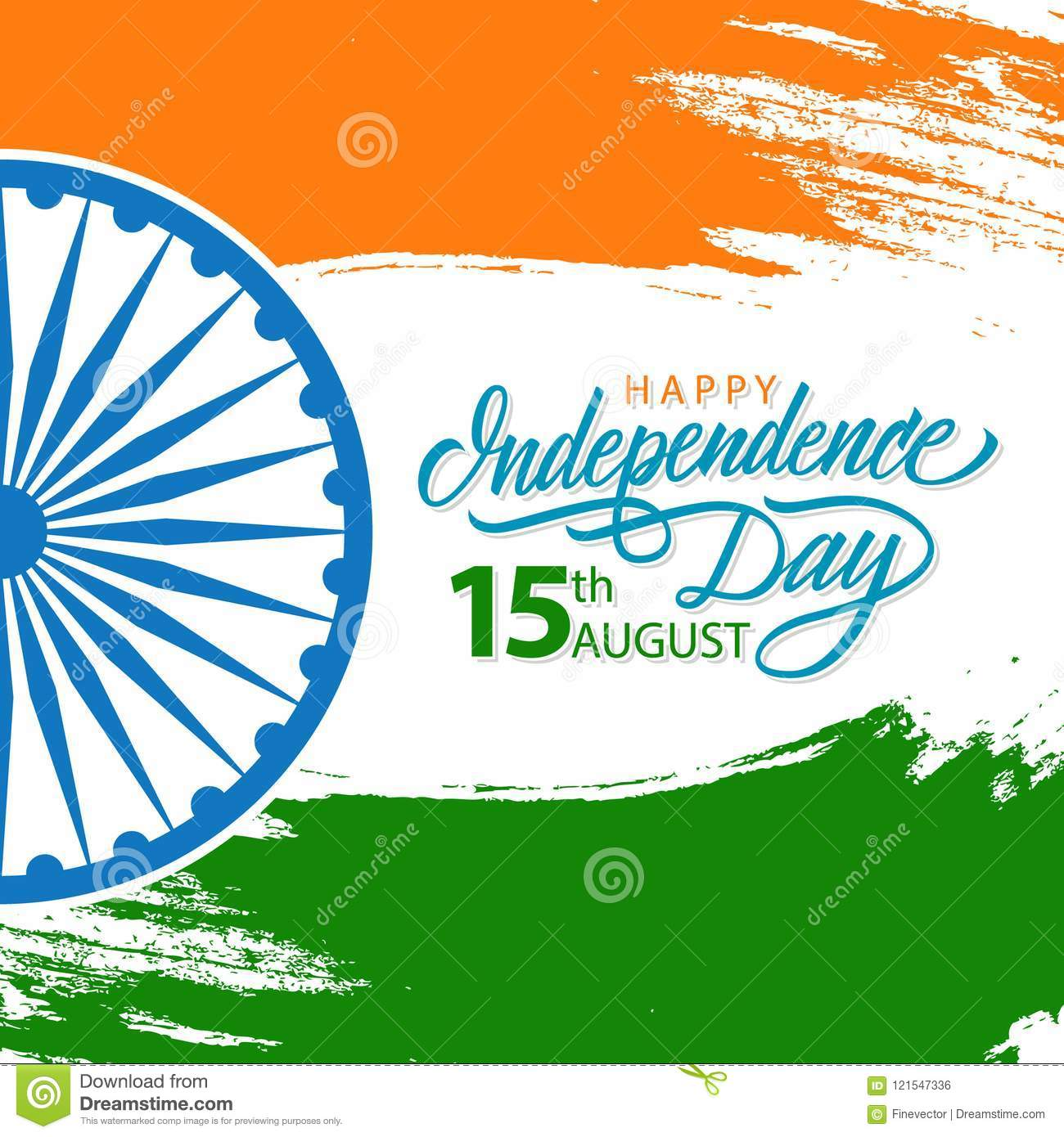 India happy independence day celebrate card with hand lettering india happy independence day celebrate card with hand lettering holiday greetings m4hsunfo
