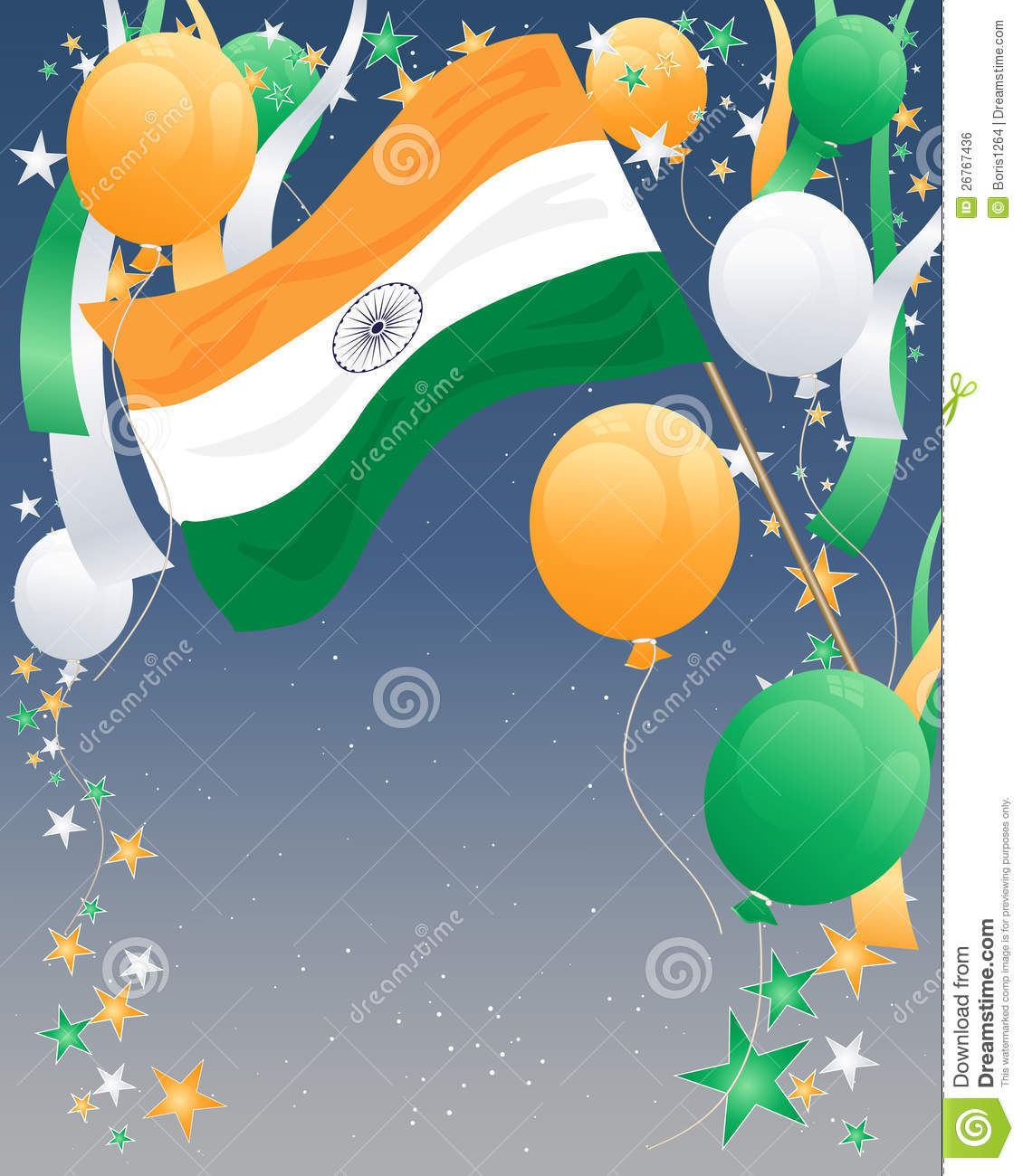 India Independence Day Stock Vector Illustration Of Culture 26767436