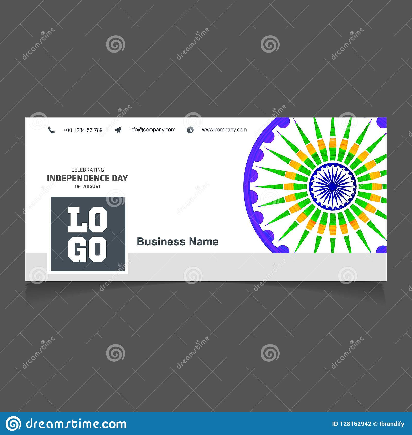 India Independence Day Social Media Cover Vector Stock