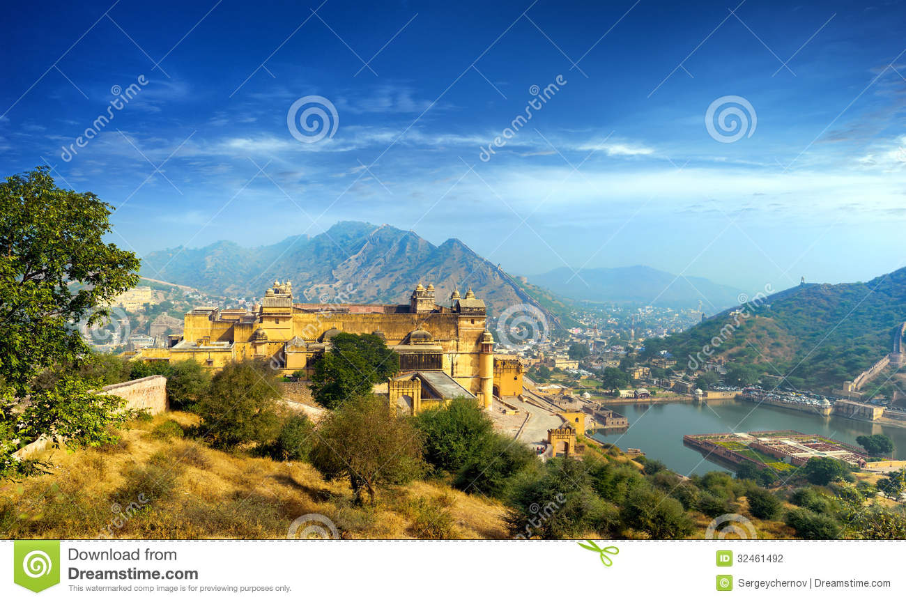Download India Jaipur Amber Fort In Rajasthan Stock Photo - Image of ancient, india: 32461492