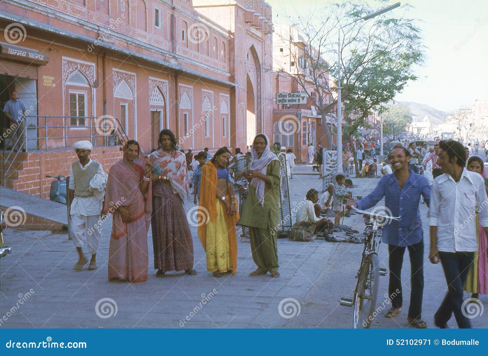 1977 India jaipur Dançarinos de Hijra na cidade cor-de-rosa