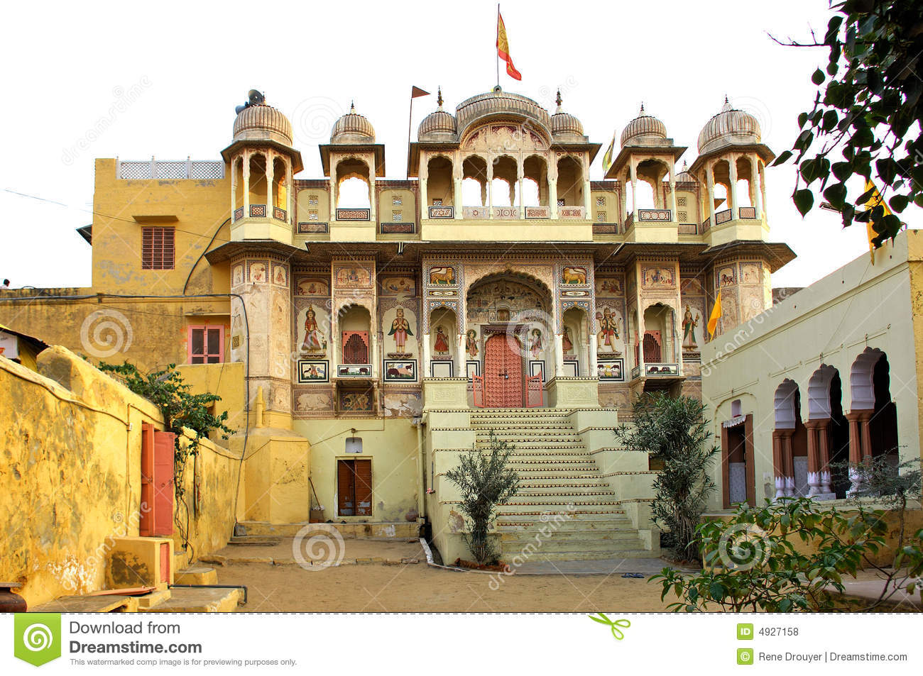 India mandawa small palace stock photo image of for Home architecture jaipur