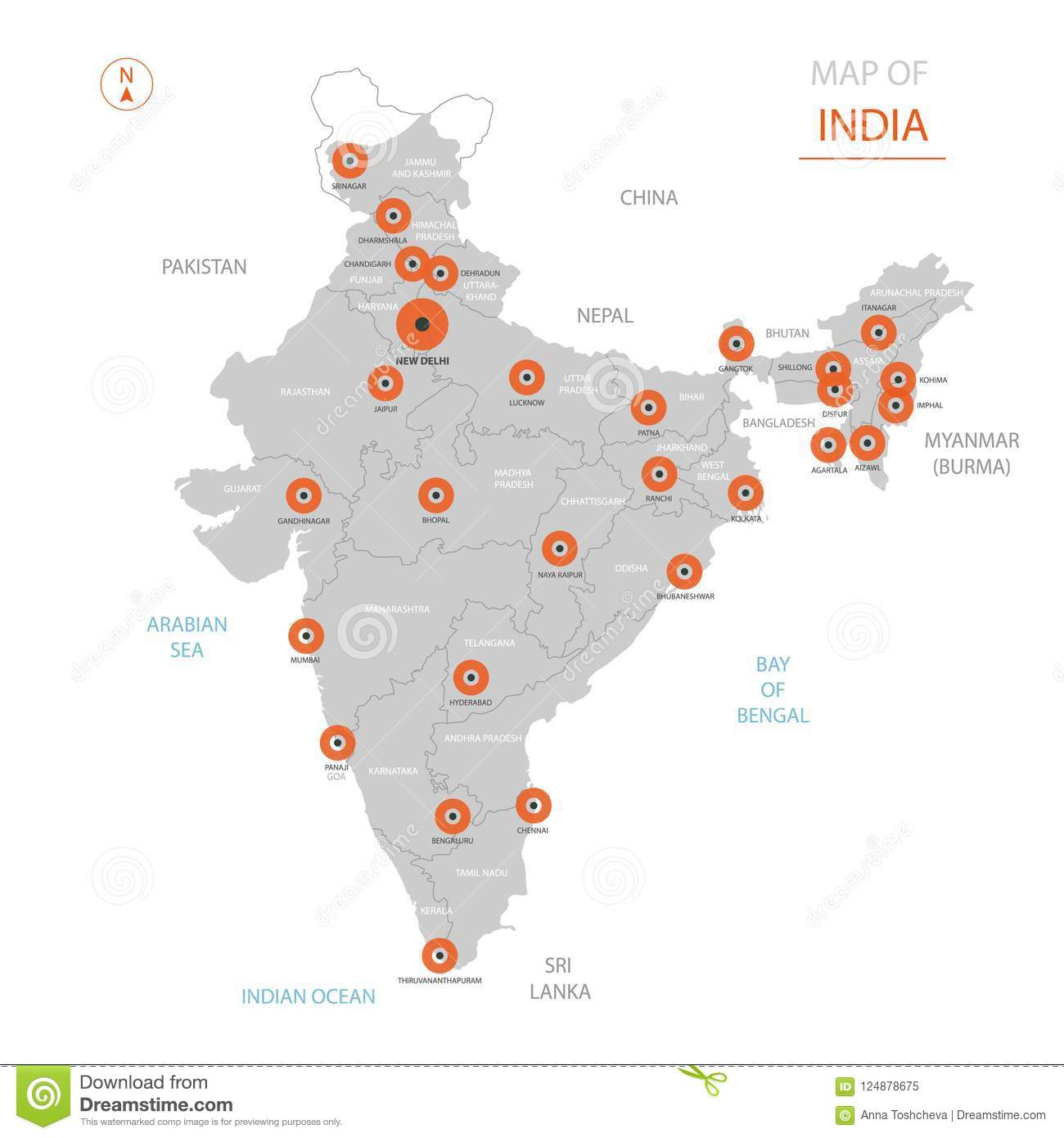 India Map With Administrative Divisions. Stock Vector - Illustration on india sri lanka, india map rajasthan, india and surrounding countries map, bombay asia map cities, india and all its cities, india cities list, india map outline, indians in india cities, india states, india travel, japan map cities, india political map 2013, india china map, india and pakistan map, india language, india map mountains, india physical map, india biggest cities map, india major cities, india map 1200 pixels,
