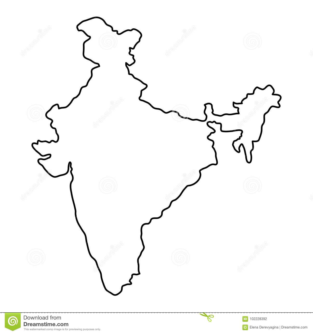 Image Result For India Map Line Drawing