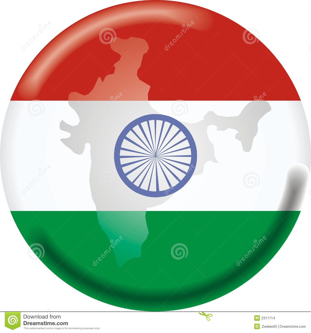 India Map Flag.India Map And Flag Stock Vector Illustration Of Ripple 2311714