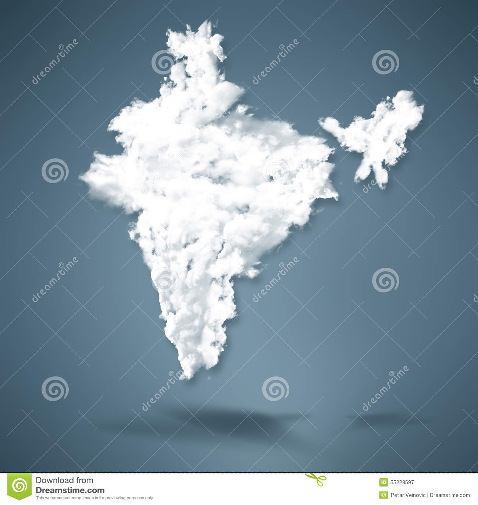 Cloud Map India India Map stock illustration. Illustration of network   55228597