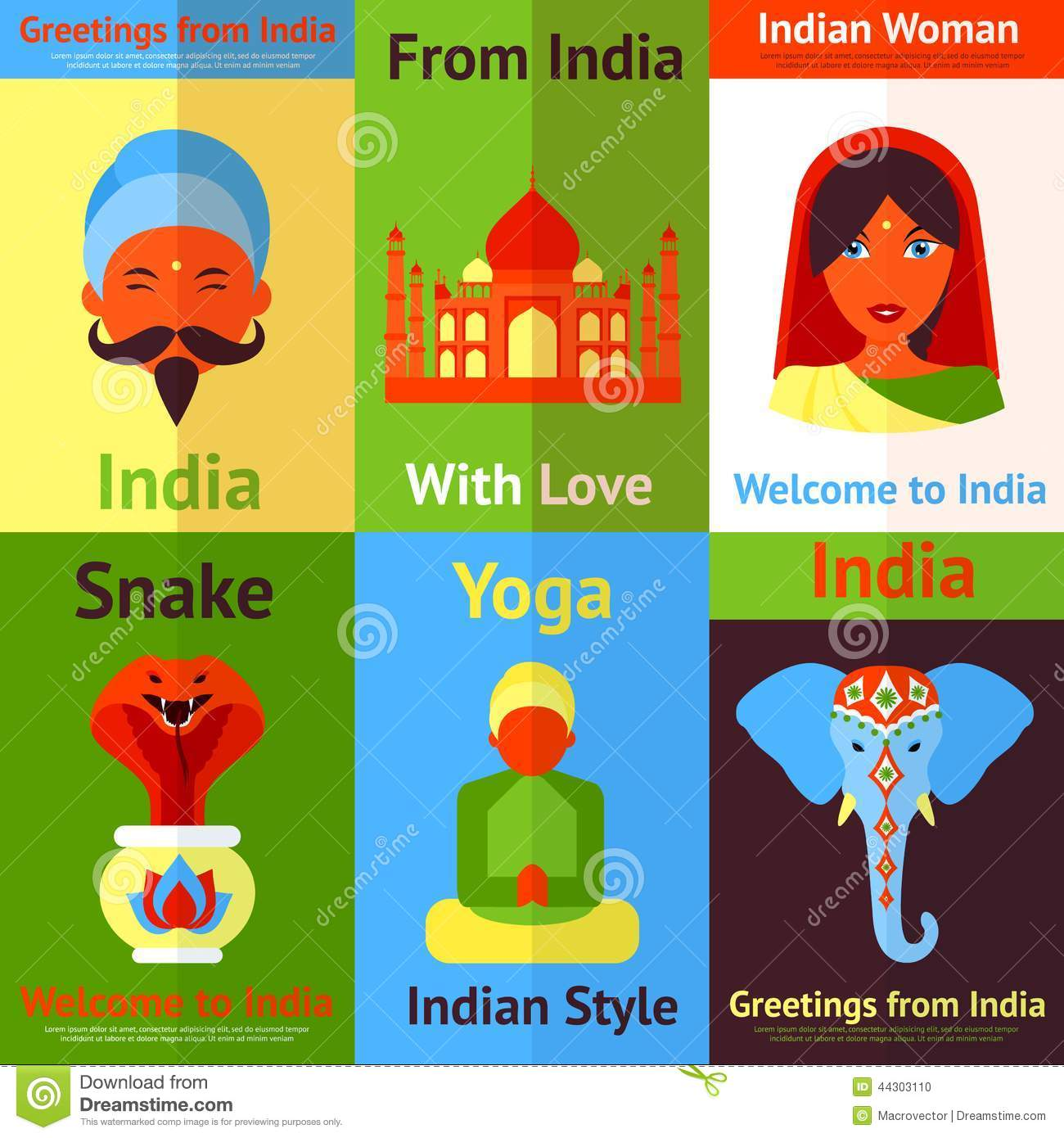 India Mini Poster Stock Vector Image 44303110