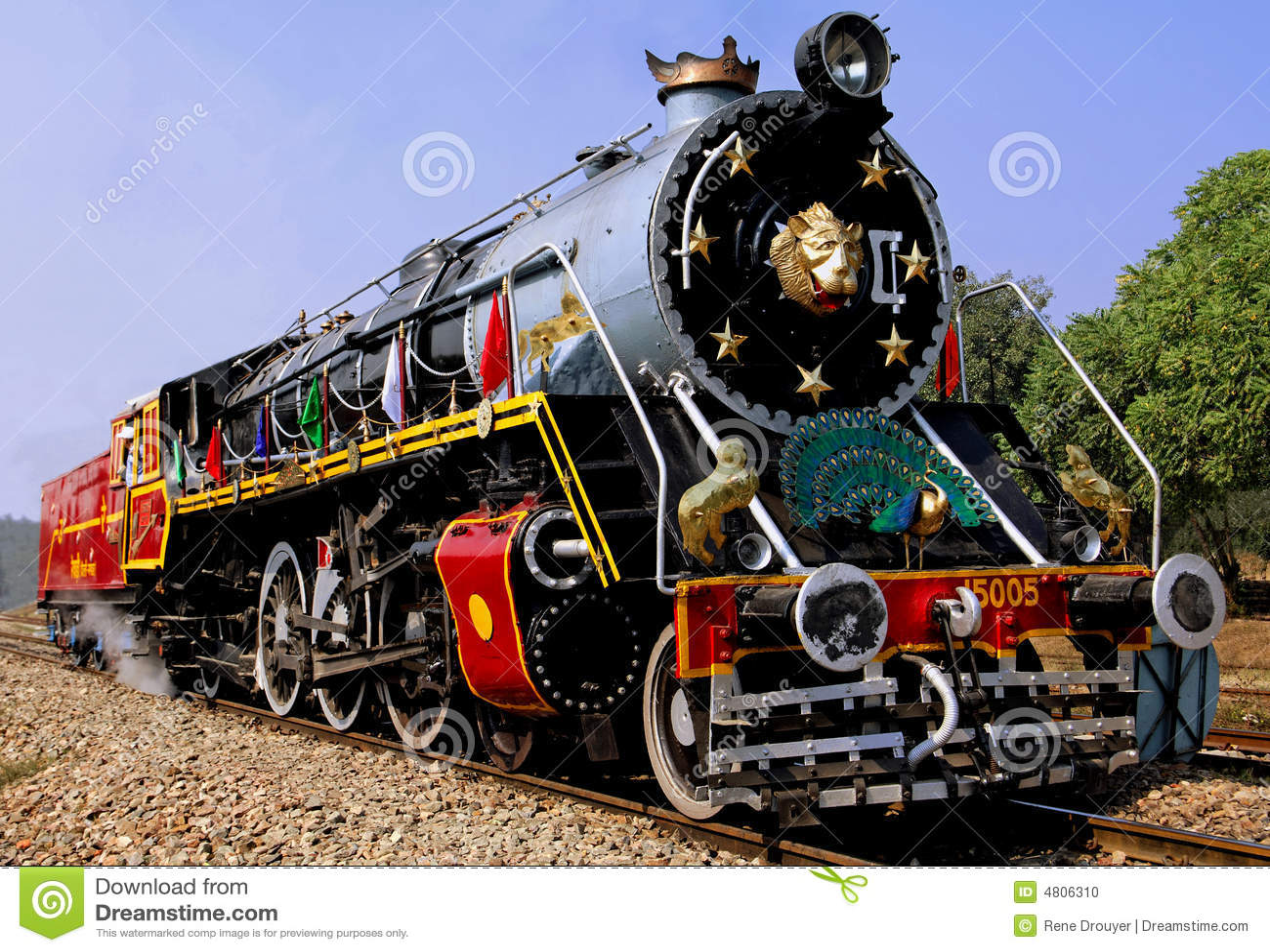 India old steam train