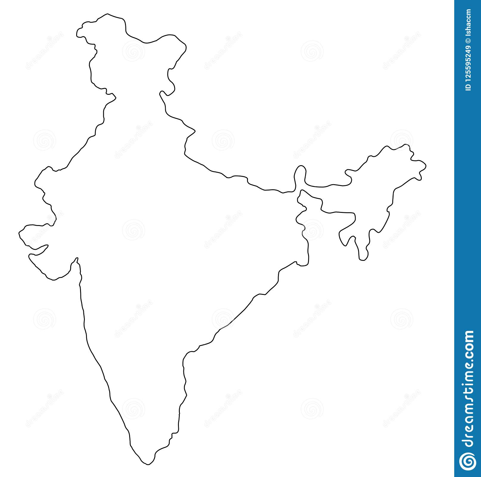 India Outline Map India Outline Map Vector Illustration Stock Vector   Illustration  India Outline Map