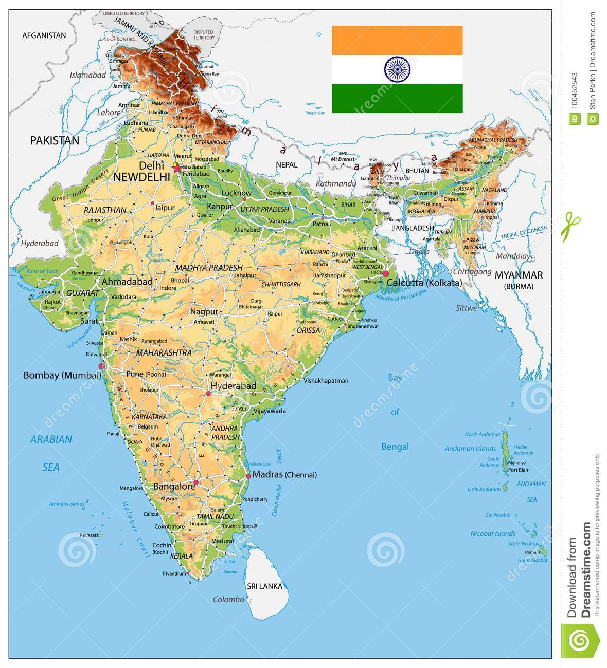 India Physical Map stock vector. Illustration of relief ... on goa india, physical map cyprus, physical map myanmar, rivers of india, capital of india, physical map somalia, northern plains of india, national flower of india, landforms in india, deccan plateau india, location and geography of india, ganges river india, economy of india, region of india, mumbai india, europe map from nepal india, indus river in india, physical features map, chennai india, maps of only india,