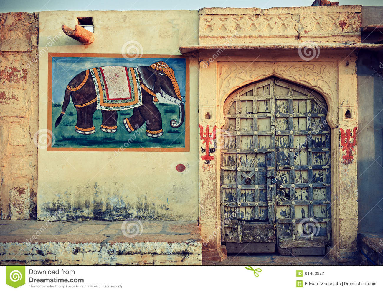 India rajasthan stock photo image of landscape for Facade decoration