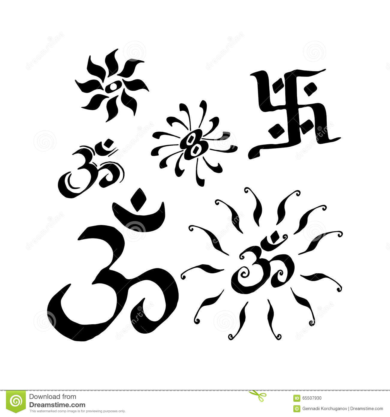 India set of signs and symbols stock vector illustration of india set of signs and symbols biocorpaavc Choice Image