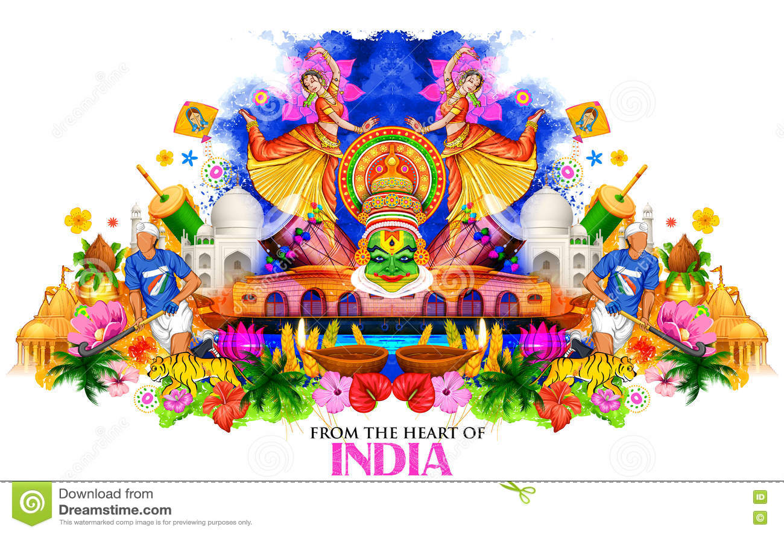 India tło pokazuje swój różnorodność i kulturę