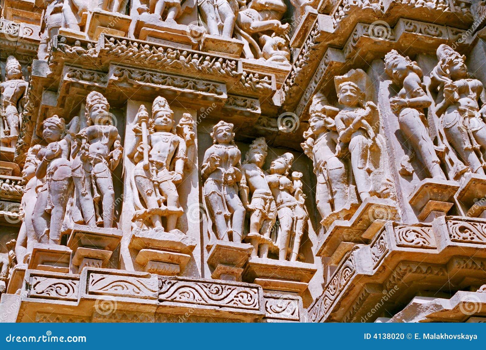India, Temple in Khajuraho.