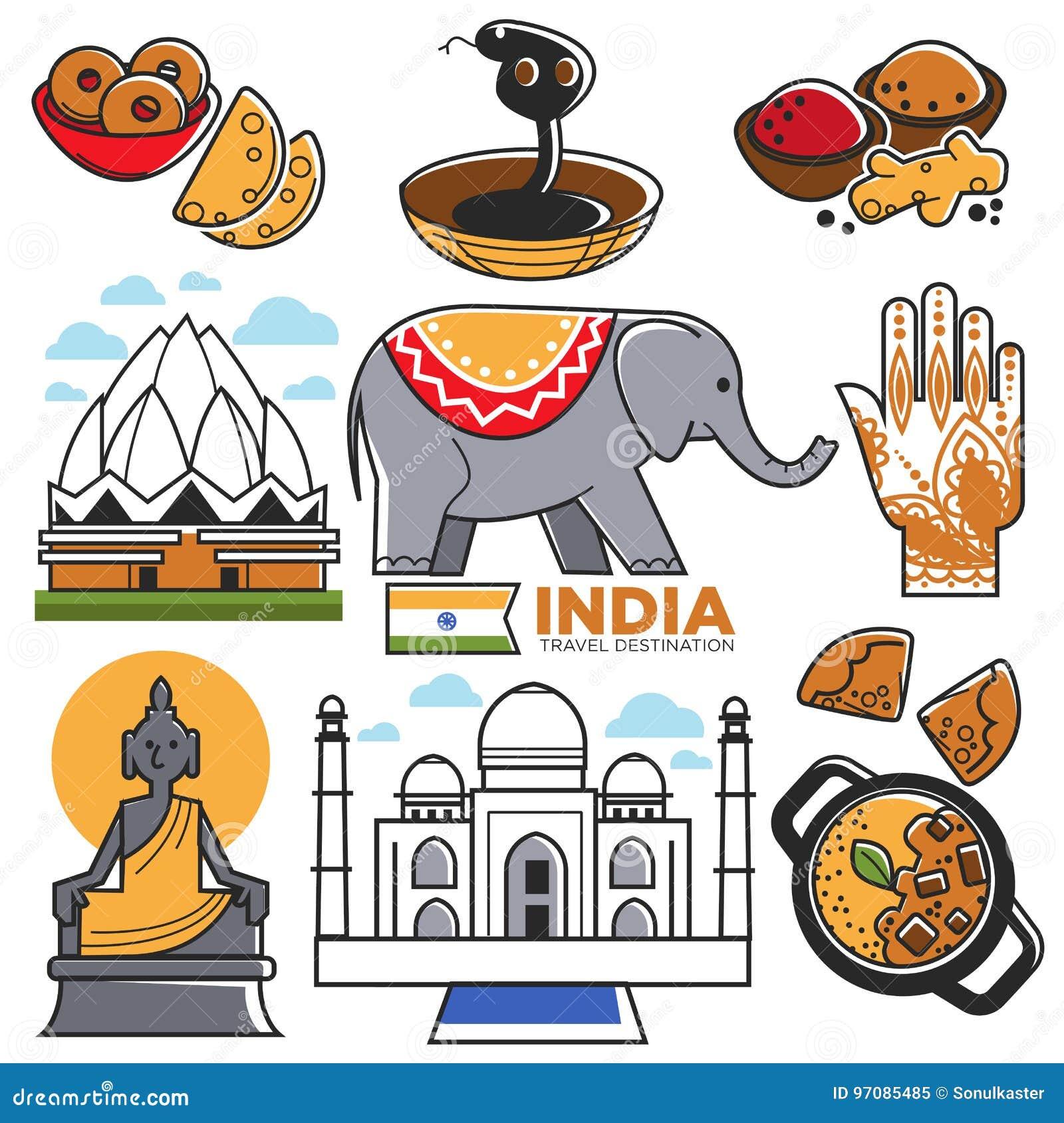 India Tourist Places Clipart