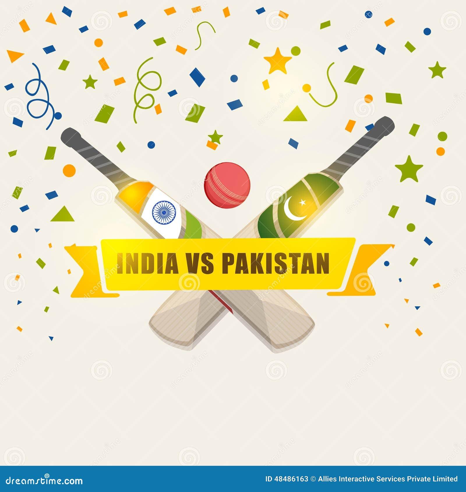 India Vs Pakistan Cricket match concept.