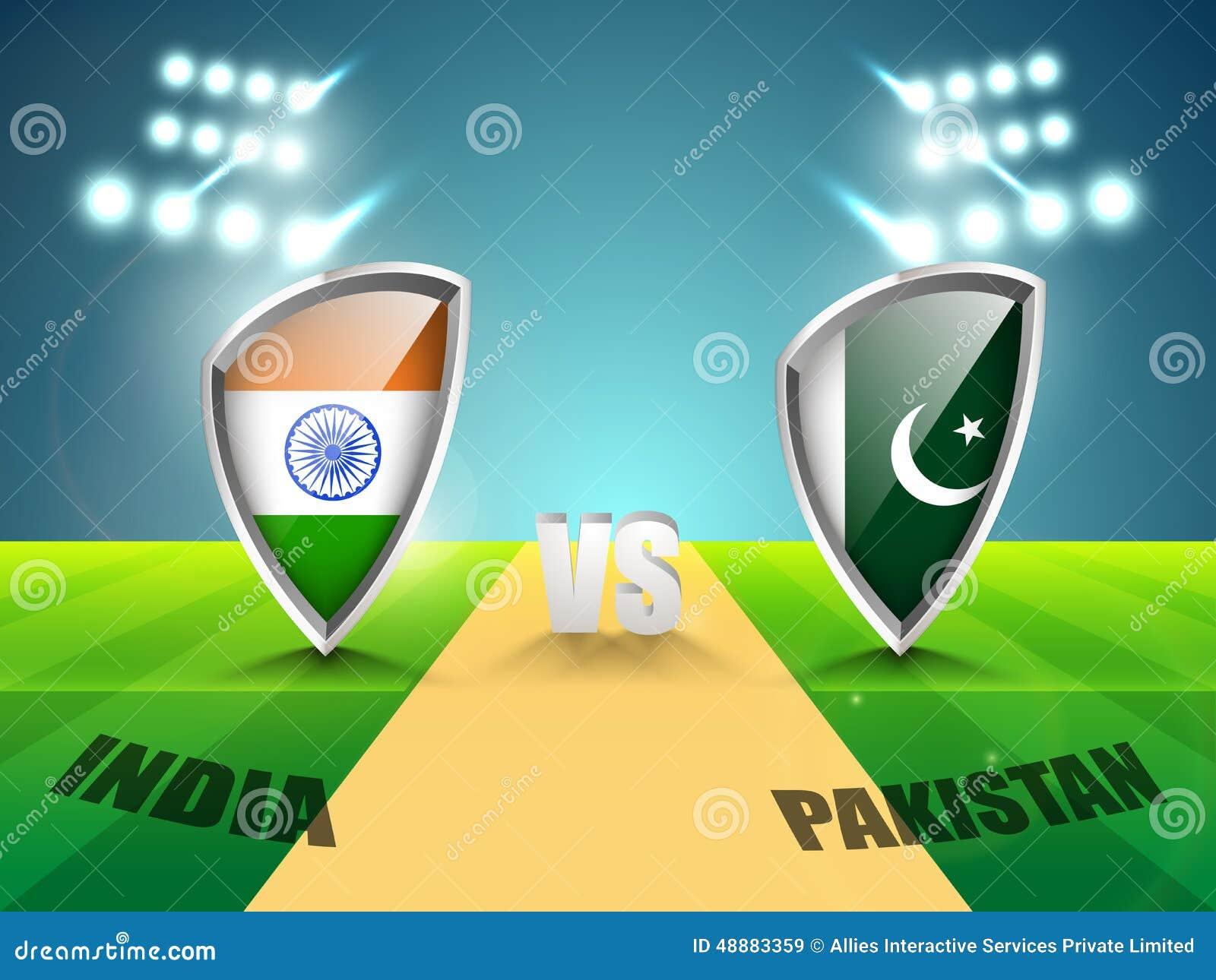 Download India Vs Pakistan Cricket Match Concept. Stock Illustration - Illustration of inning, holiday: 48883359