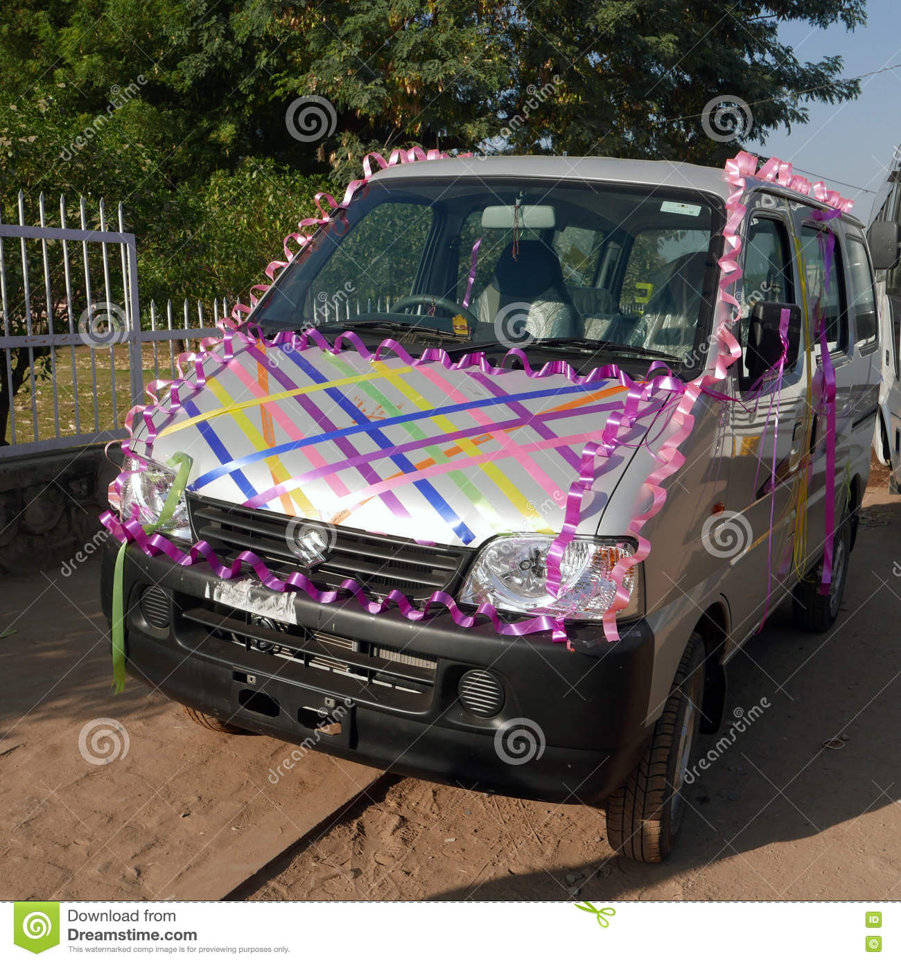 India Wedding Car Decoration Stock Photo Image Of Wedding
