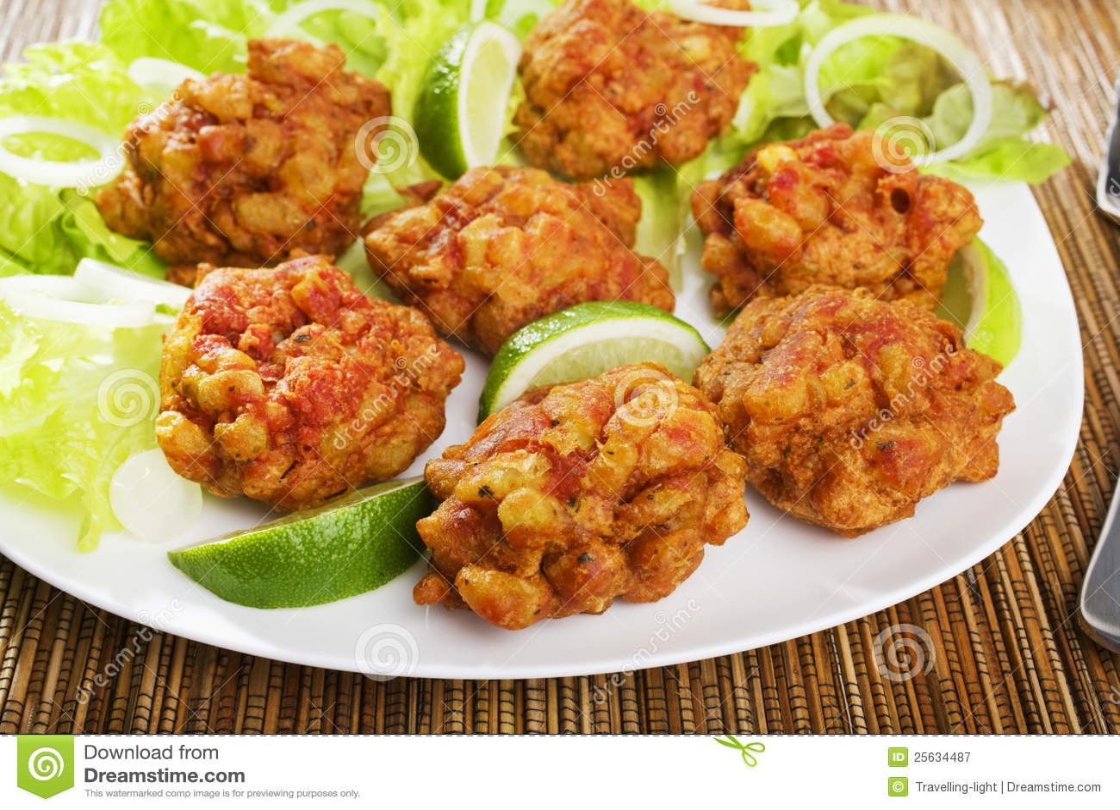 Indian Appetiser Onion Bhajis