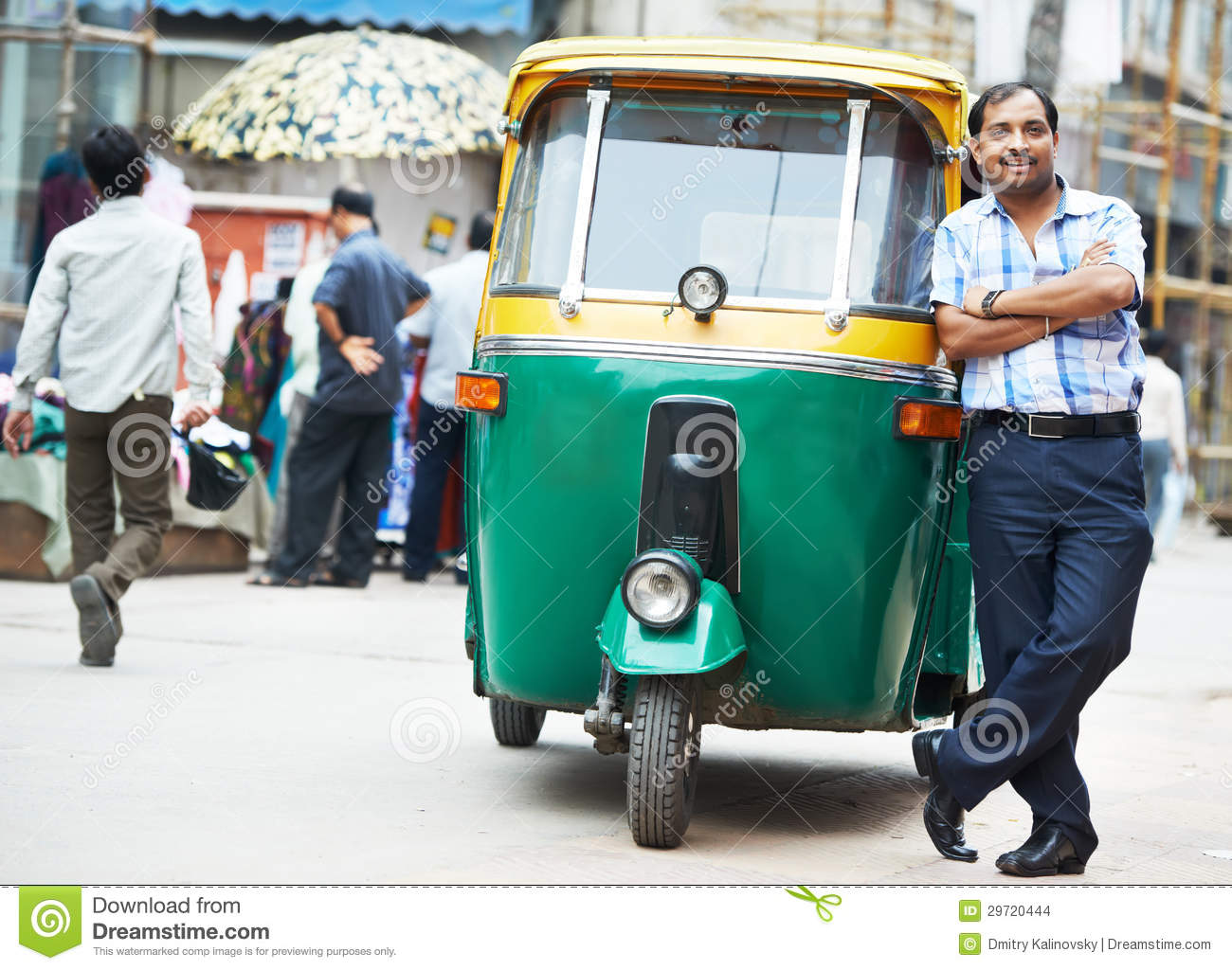 indian auto rickshaw tut tuk driver man stock images image 29720444. Black Bedroom Furniture Sets. Home Design Ideas