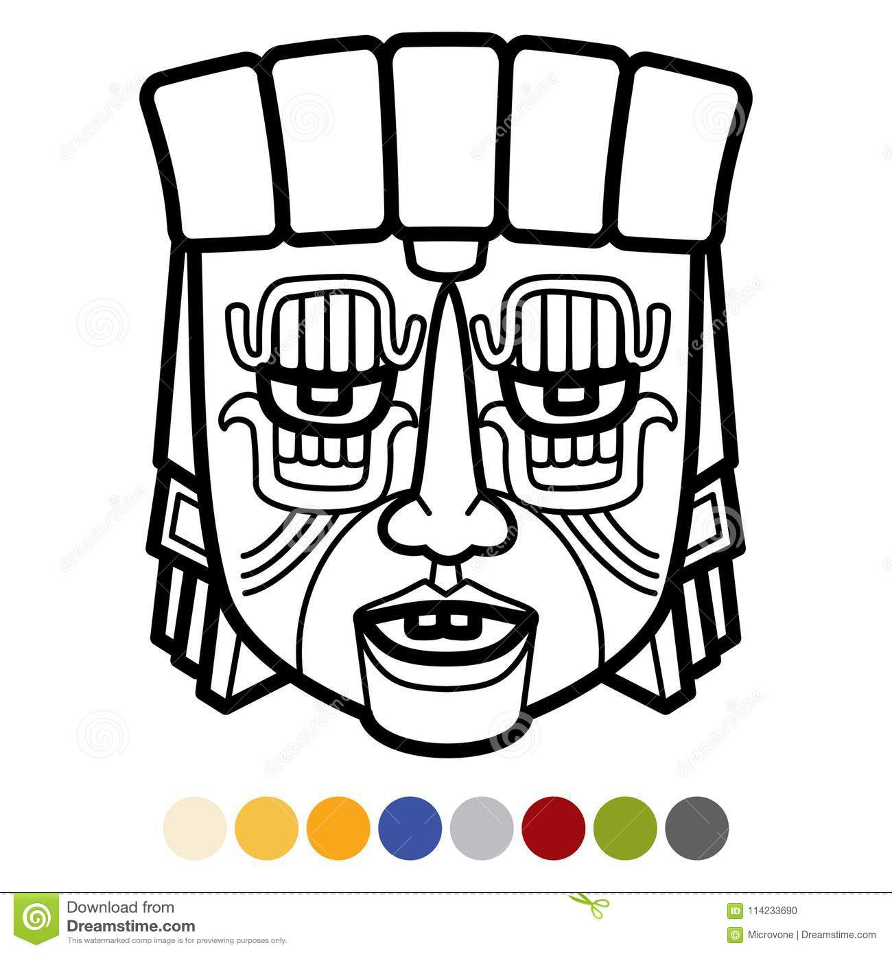 indian tribal masks coloring pages - photo#26