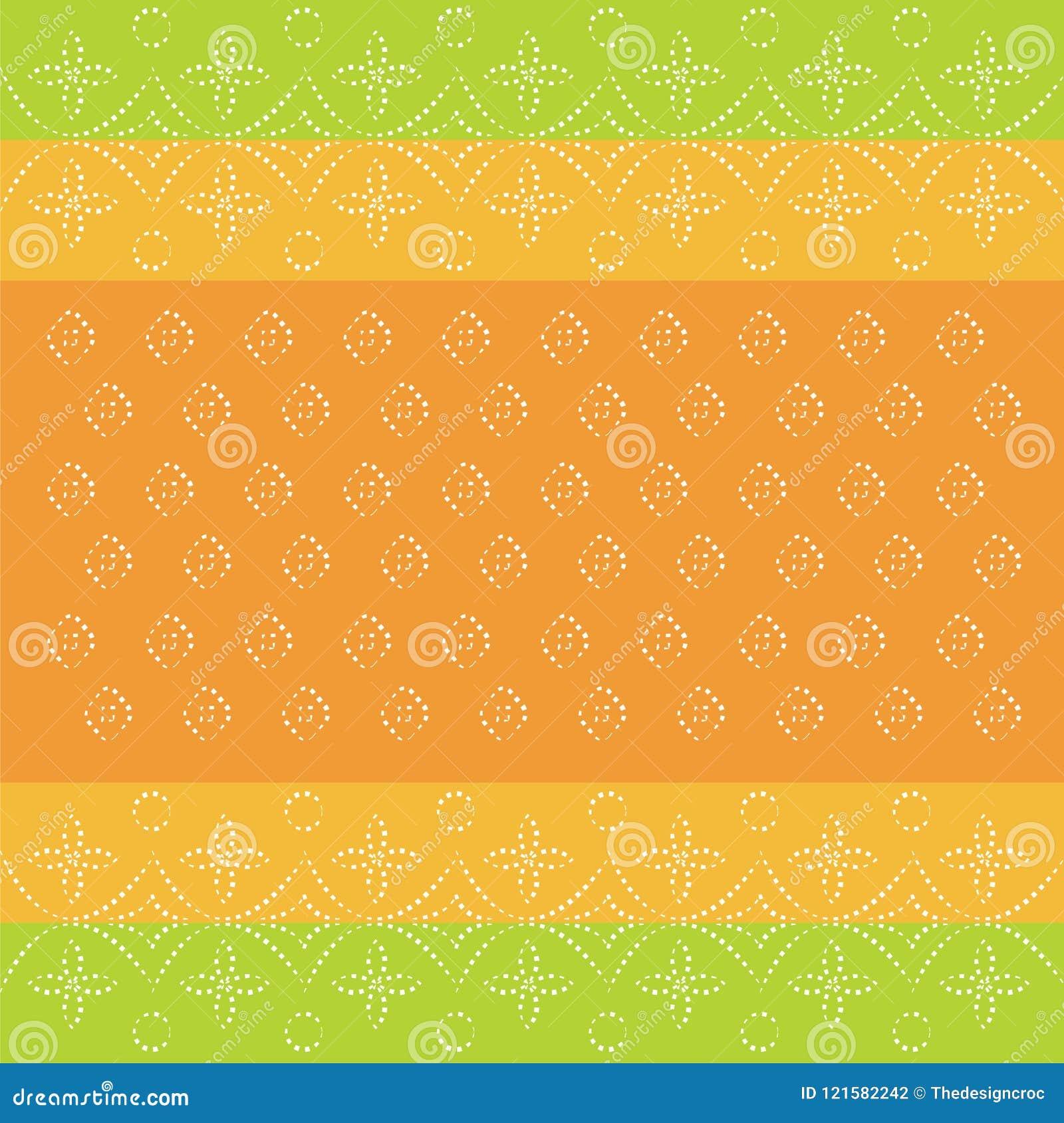 Indian Bandhani Traditional Pattern Wallpaper Card Design Green