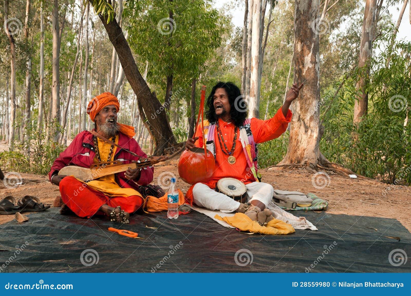Indian baul folk singers