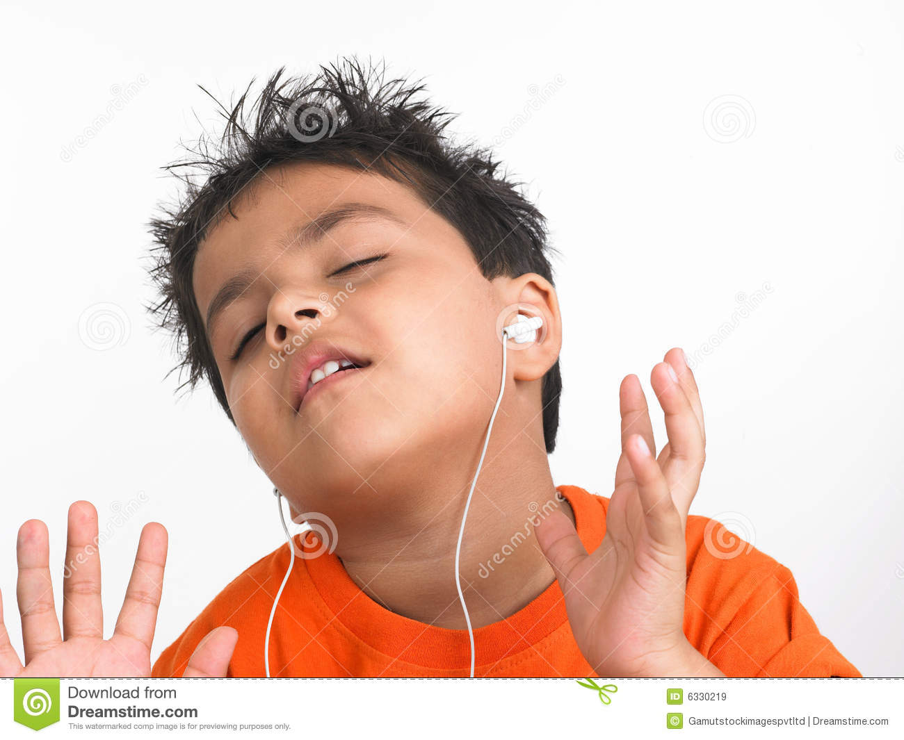 Indian Boy Listening To Music Royalty Free Stock Images - Image ...