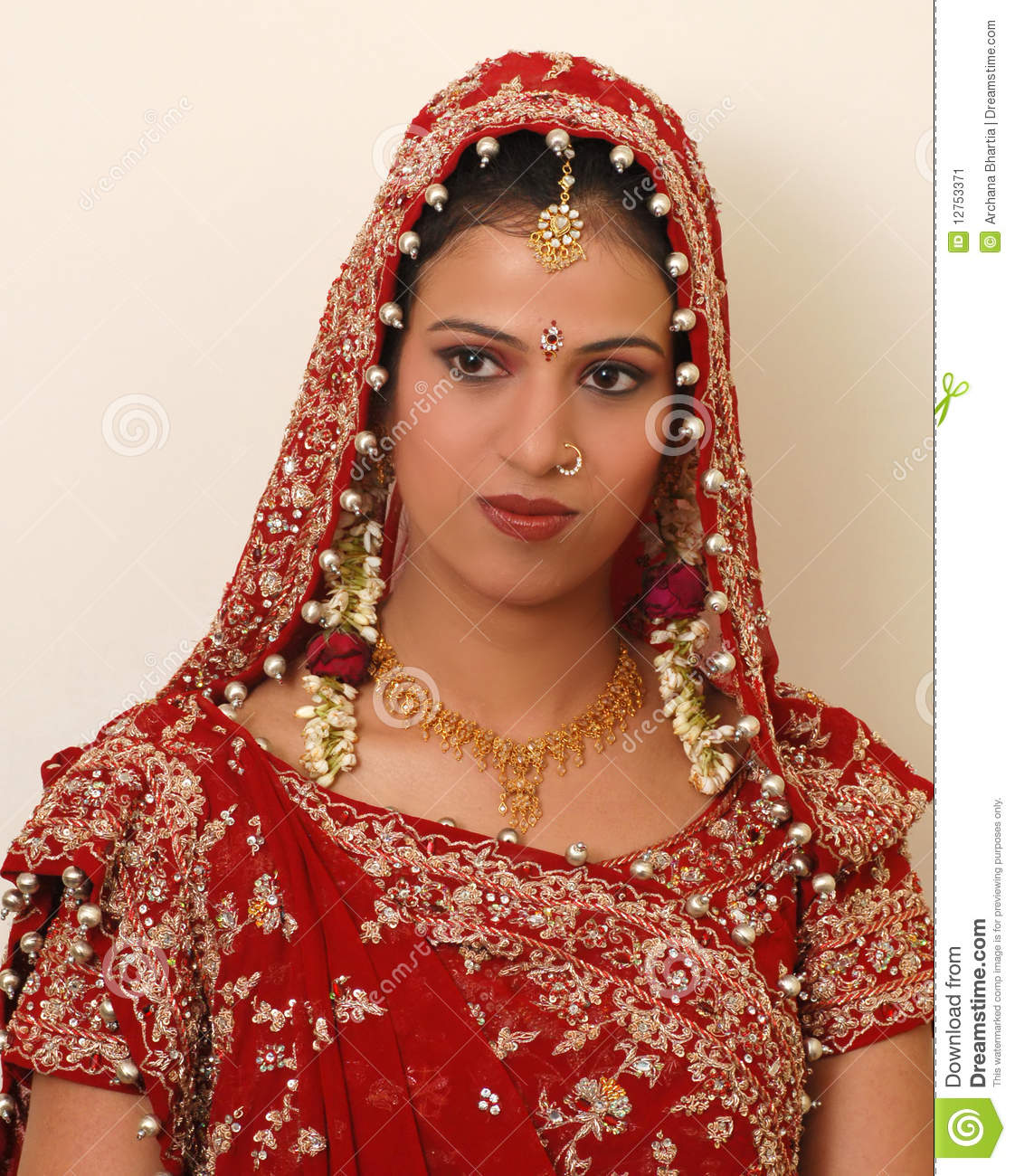 indian bride stock image. image of ethnic, indian, rajasthan - 12753371