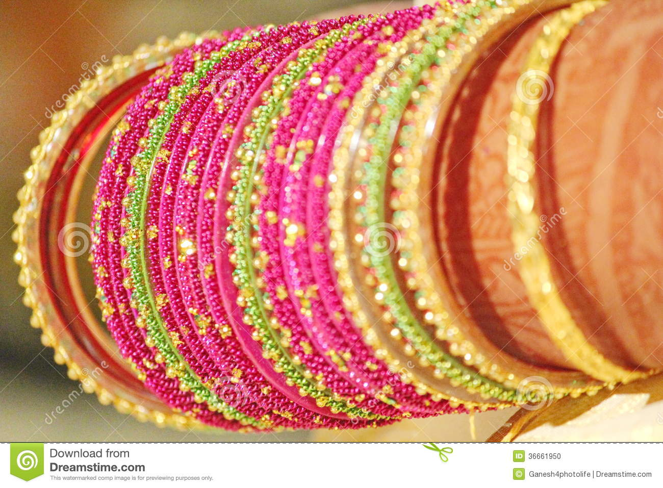 indian bride wearing bangles on marriage day stock photo image of