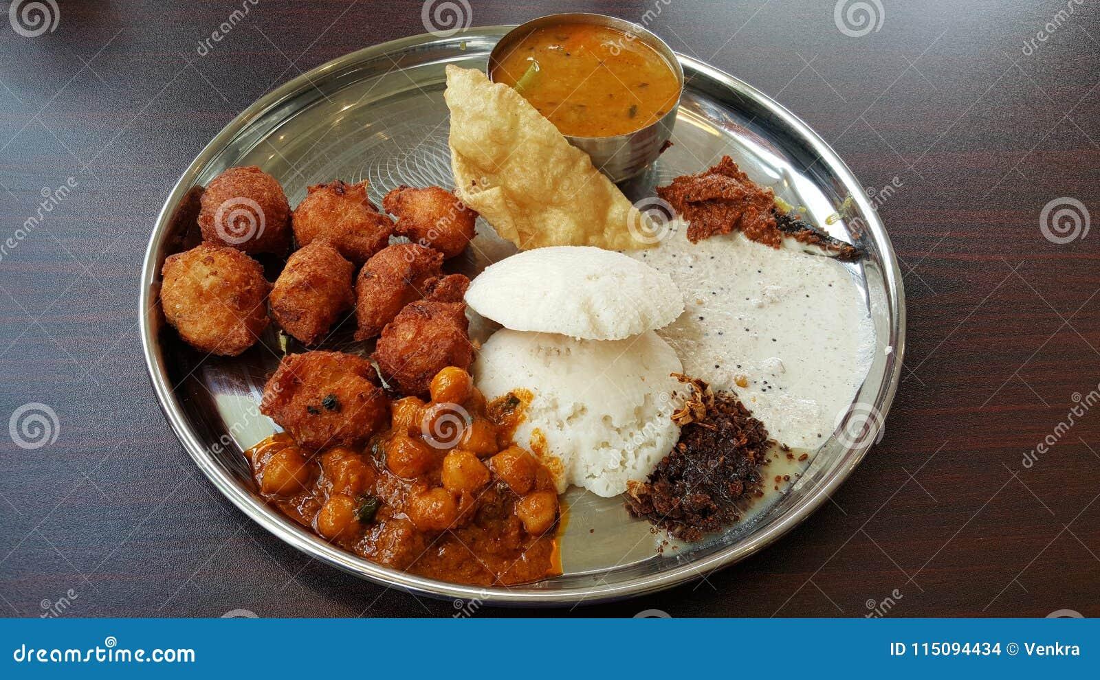 Indian Buffet Food Stock Photo Image Of Silver Ghobi 115094434